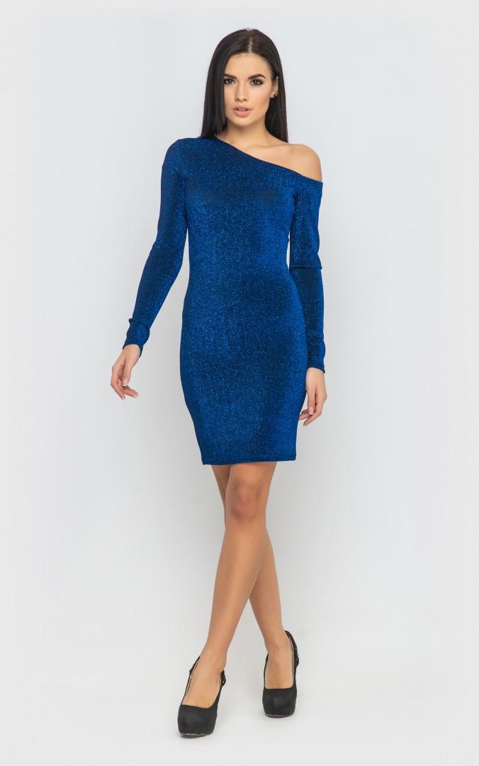 Платье облегающее (электрик)