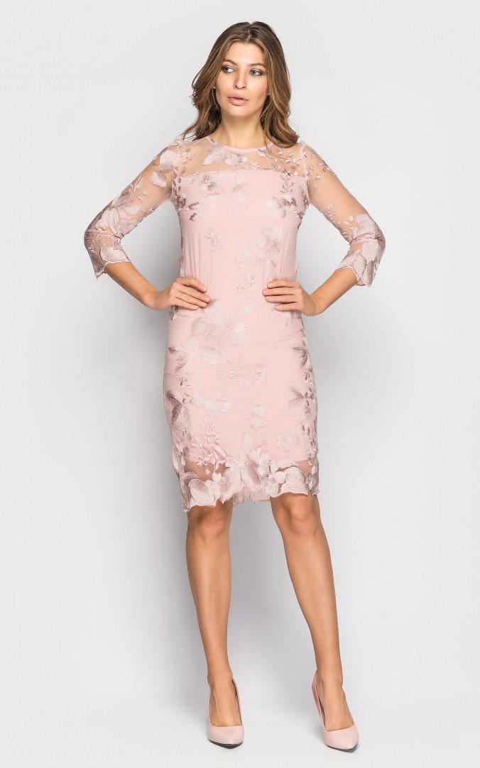 Вечернее платье (розовое)