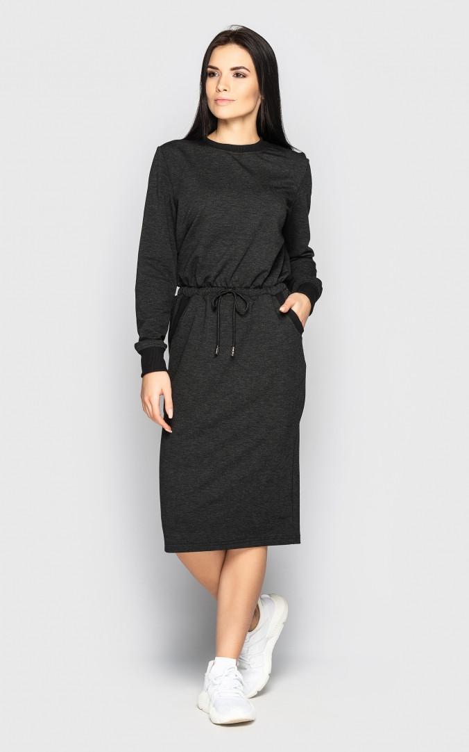 Спортивное платье (темно-серый)