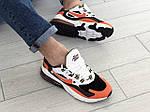 Мужские кроссовки Nike Air Max 270 React (бело-оранжевые) 9138, фото 5