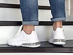 Мужские кроссовки Nike Air Max 270 React (белые) 9139, фото 4