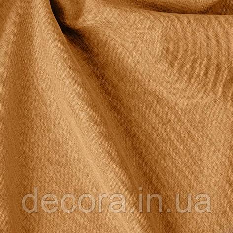 Римська штора із однотонної тканини рогожка золота 122000v9, фото 2