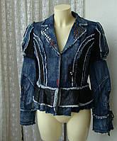 Куртка женская модная жакет джинс бренд Karmir Sarere р.48-50, фото 1
