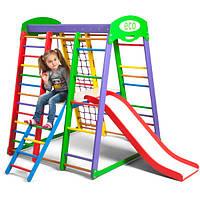 Детский спорткомплекс деревянный Акварелька Plus 2