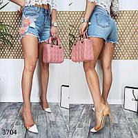 Шорты джинсовые с аппликацией Fleur 1-3704