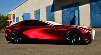 Кровать машина для мальчика Mazda concept Спальное место 170*80 см