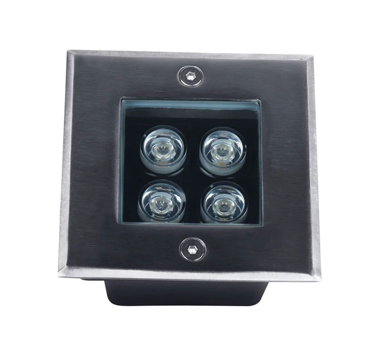 Светильник грунтовый GR-02 LED 4W /3000K 230V IP65 размер 100мм*100мм*70мм