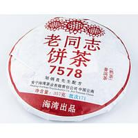 """Чай шу пуэр """"Старый товарищ Рецепт 7578"""" 357гр. (Китай)"""