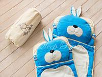 Детский комплект постельного белья Слипик Зайка голубой