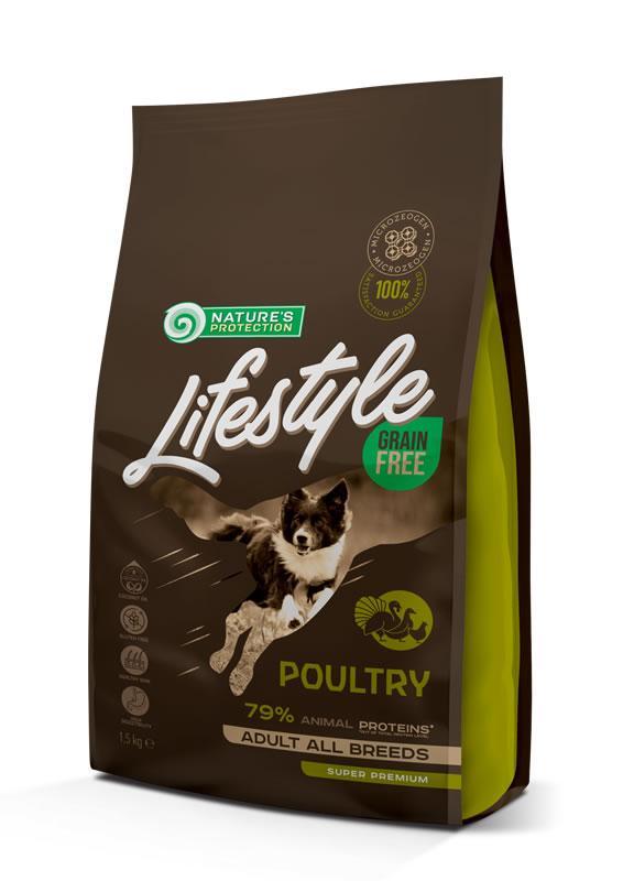 Корм для собак всех пород LIFESTYLE GRAIN FREE POULTRY ADULT ALL BREEDS 1.5 КГ