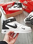 Мужские кроссовки Nike Air Force 1 07 Mid LV8 (белые) KS 1361, фото 3
