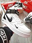 Мужские кроссовки Nike Air Force 1 07 Mid LV8 (белые) KS 1361, фото 4