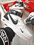 Мужские кроссовки Nike Air Force 1 07 Mid LV8 (белые) KS 1361, фото 2