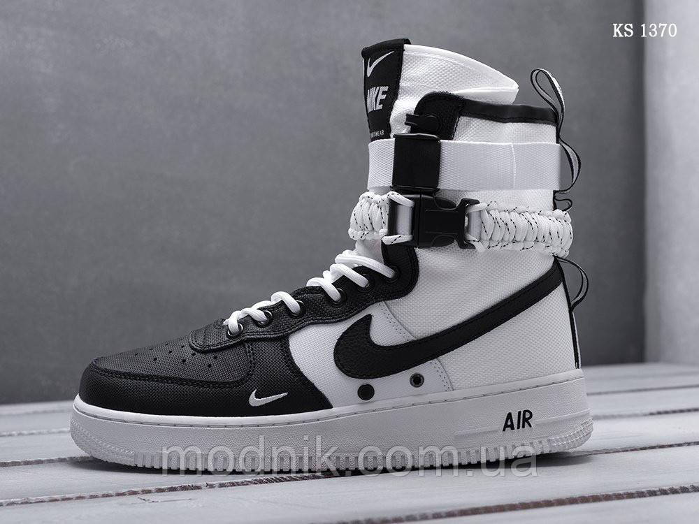 Мужские кроссовки Nike SF Air Force 1 (бело-черные) KS 1370