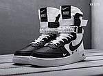 Мужские кроссовки Nike SF Air Force 1 (бело-черные) KS 1370, фото 3