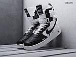 Мужские кроссовки Nike SF Air Force 1 (бело-черные) KS 1370, фото 4