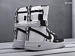 Мужские кроссовки Nike SF Air Force 1 (бело-черные) KS 1370, фото 5