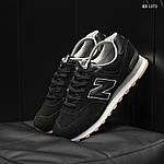 Мужские замшевые кроссовки New Balance 574 (черные) KS 1373, фото 2