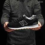Мужские замшевые кроссовки New Balance 574 (черные) KS 1373, фото 3
