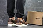 Мужские кожаные кроссовки Asics Gel III (коричневые) KS 1378, фото 2