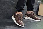 Мужские кожаные кроссовки Asics Gel III (коричневые) KS 1378, фото 3