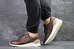 Мужские кожаные кроссовки Asics Gel III (коричневые) KS 1378, фото 4