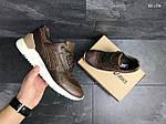 Мужские кожаные кроссовки Asics Gel III (коричневые) KS 1378, фото 5