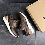 Мужские кожаные кроссовки Asics Gel III (коричневые) KS 1378, фото 6