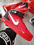 Мужские кроссовки Nike Air Force 1 07 Mid LV8 (красные) KS 1363, фото 2