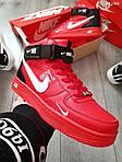 Мужские кроссовки Nike Air Force 1 07 Mid LV8 (красные) KS 1363, фото 3