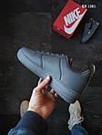 Мужские кожаные кроссовки Nike Air Force 1 LV8 (серые) KS 1381, фото 5