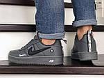 Мужские кожаные кроссовки Nike Air Force 1 LV8 (серые) KS 1381, фото 8