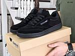 Мужские замшевые кроссовки Reebok (черные) KS 1382, фото 2