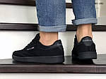 Мужские замшевые кроссовки Reebok (черные) KS 1382, фото 3