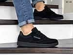 Мужские замшевые кроссовки Reebok (черные) KS 1382, фото 4
