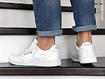 Мужские кожаные кроссовки Reebok (белые) KS 1383, фото 3