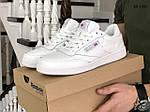 Мужские кожаные кроссовки Reebok (белые) KS 1383, фото 4