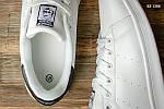 Мужские кожаные кроссовки Adidas Stan Smith (бело-черные) KS 1386, фото 4