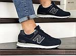 Мужские замшевые кроссовки New Balance 574 (синие) KS 1377, фото 3