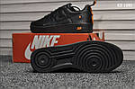 Мужские кожаные кроссовки Nike Air Force 1 LV8 (черно-оранжевые) KS 1380, фото 2