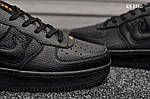 Мужские кожаные кроссовки Nike Air Force 1 LV8 (черно-оранжевые) KS 1380, фото 3
