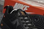 Мужские кожаные кроссовки Nike Air Force 1 LV8 (черно-оранжевые) KS 1380, фото 4