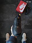 Мужские кожаные кроссовки Nike Air Force 1 LV8 (черно-оранжевые) KS 1380, фото 5