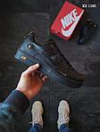 Мужские кожаные кроссовки Nike Air Force 1 LV8 (черно-оранжевые) KS 1380, фото 6