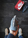 Мужские кожаные кроссовки Nike Air Force 1 LV8 (серые) KS 1381, фото 3