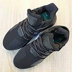 Мужские кроссовки Adidas EQT Bask ADV (черные) 1964, фото 4