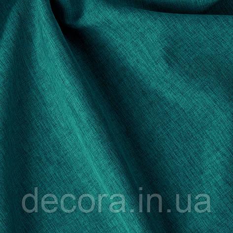 Римська штора із однотонної тканини рогожка бірюзова 122000v19, фото 2