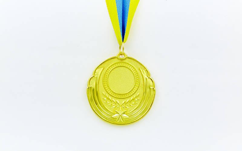 Заготовка медали спортивной с лентой RESULT d-6,5см (металл, 30g, 1-золото, 2-серебро, 3-бронза) PZ-C-4331