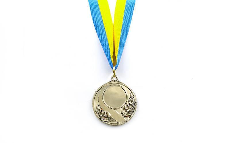 Заготовка медали спортивной с лентой SKILL d-5см (металл, 25g, 1-золото, 2-серебро, 3-бронза) PZ-C-4845