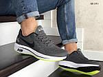 Мужские кроссовки Nike Run shield (серо-салатовые) KS 1391, фото 4